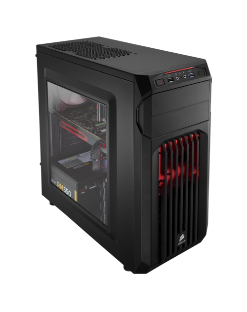 SPEC-01 Red LED Mid-Tower Gaming Case