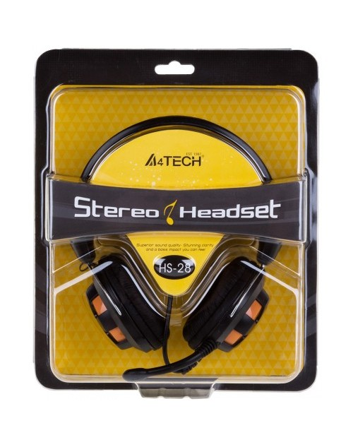 A4 TECH  Adjustable Headset HS-28 Stereo Headset