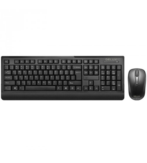 Delux Wireless Keyboard & Mouse K6010 MI07