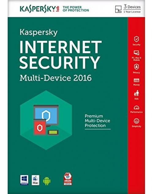 Kaspasky Internet Security 2018 (3 Users)