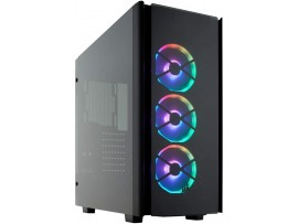 Corsair Obsidian Series 500D RGB SE Premium Mid-Tower Case Smoked Tempered Glass Aluminum Trim