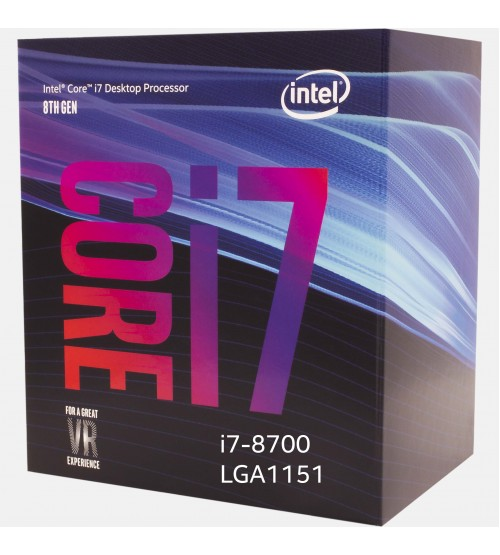 Intel® Core™ i7-8700 Processor 12M Cache, up to 4.60 GHz [8th Generation]