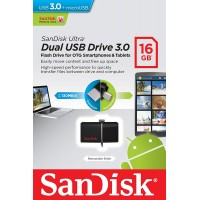 San Disk 16GB USB 3.0 / OTG Pen Drive (USB 3.0 & Micro USB)