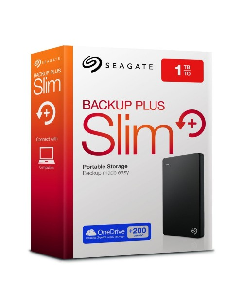 Seagate 1TB Backup Plus Slim Portable Hard Disk