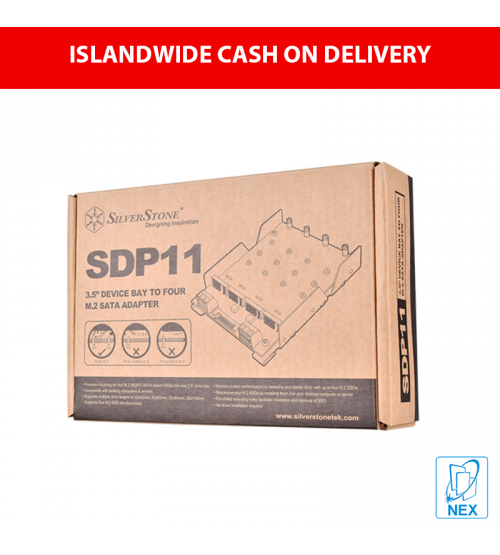 "Silverstone SDP11 1x3.5"" SATA to 4x m.2 SATA Adapter"
