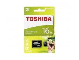 Toshiba SDHC Class 4 16GB Micro SD card with SD Adapter