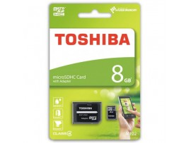 Toshiba SDHC Class 4 8GB Micro SD card with SD Adapter