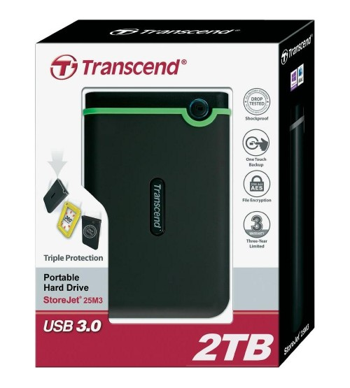 Transcend StoreJet 25H3 2TB portable hard drive