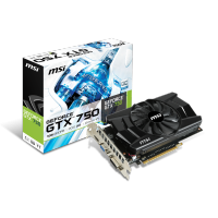 1GB nvidia geforce GTX 750 MSI VGA Card N7501GD5-OC