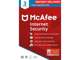 Mcafee Internet Security 2020 (One Year Three User)